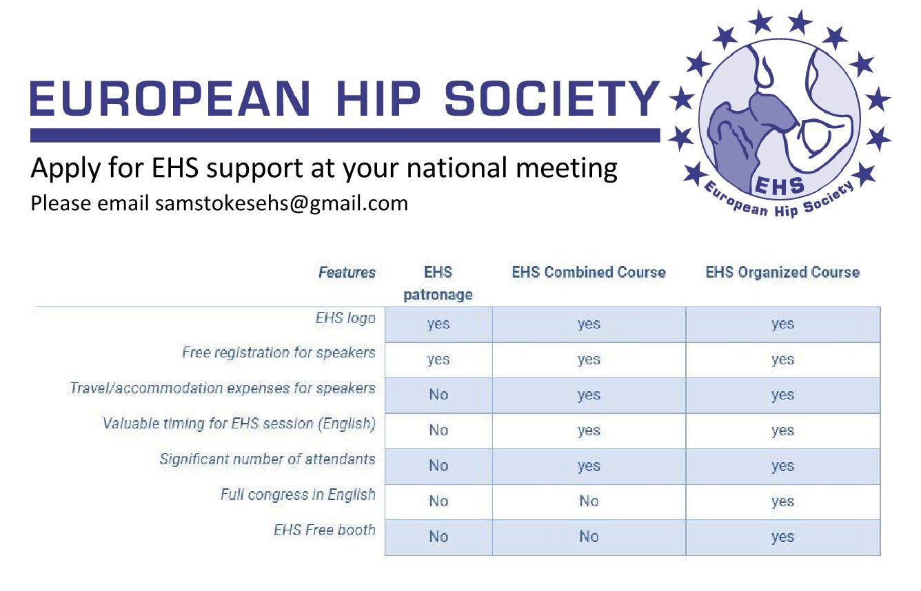 Hip Meetings Calendar – European Hip Society