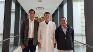 From left to right. Dr Jesús Moreta, Prof Fritz Thorey and Dr Antonios Koutalos