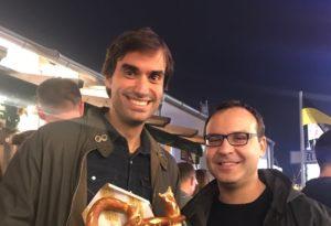 Dr Dr Jesús Moreta and Dr Antonios Koutalos at Oktoberfest